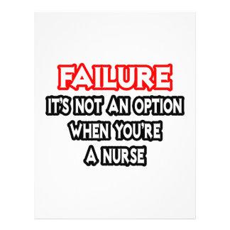 Falha… não uma enfermeira da opção… modelos de panfleto