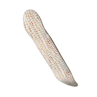Falso, branco, pérolas, chique, elegante, shape de skate 18,1cm