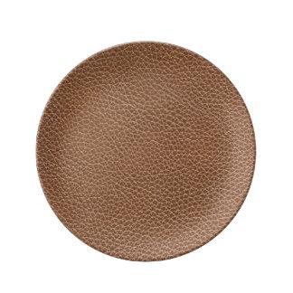 Falso Brown natural de couro Louça