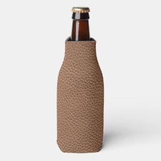 Falso Brown natural de couro Porta-garrafa