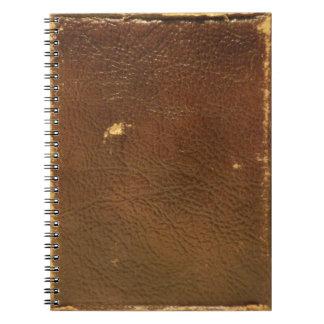 Falso de couro de Brown do vintage Cadernos