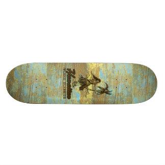 Falso havaiano da barraca do surf de madeira shape de skate 19,7cm