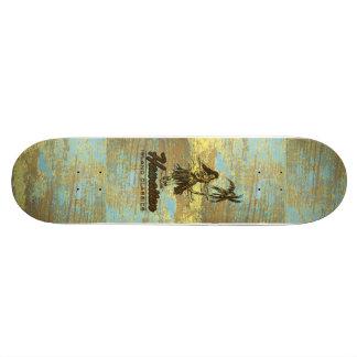 Falso havaiano da barraca do surf de madeira shape de skate 20cm
