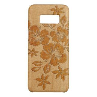 Falso havaiano do hibiscus de Lilikoi de madeira Capa Case-Mate Samsung Galaxy S8
