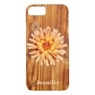 Falso rústico de madeira com um nome da foto da capa iPhone 8/ 7