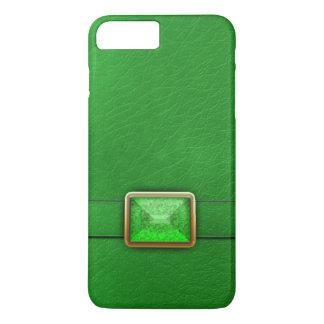 Falso verde couro e capa de telefone de pedra