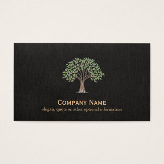 Falso verde do preto da natureza do logotipo da cartão de visitas