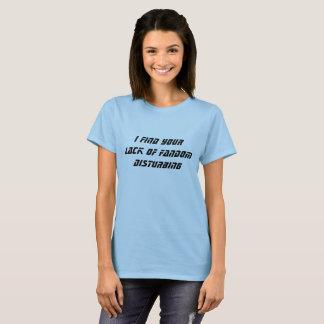 Falta do t-shirt do Fandom Camiseta