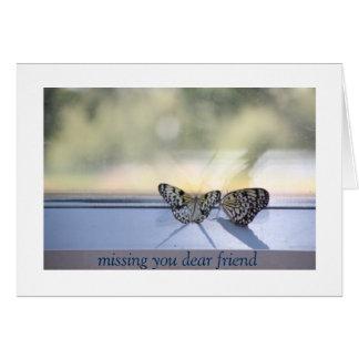 Faltando o amigo cartão comemorativo
