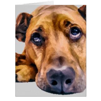 Faltando o cão para alguma ocasião cartão