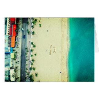 Faltando o férias da praia cartão comemorativo