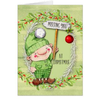 Faltando o no gnomo feericamente bonito do Natal Cartão