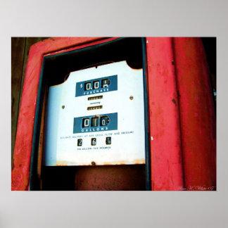 Faltando o preço de gás pôster