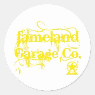 Fameland Garagem Empresa - edição amarela Adesivo