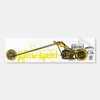 Fameland Garagem Empresa - edição amarela Adesivo Para Carro