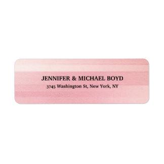 Família clássica à moda retro da cor cor-de-rosa etiqueta endereço de retorno