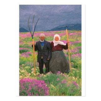 família curdo celestial da paisagem cartão postal