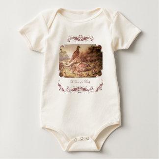 Família da camisa do bebê das codorniz