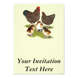 Família da galinha do jubileu de Orpington Convite 12.7 X 17.78cm
