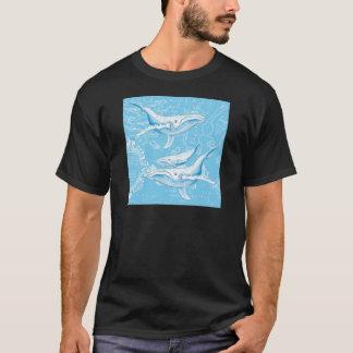 Família das baleias azuis camiseta