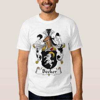 Família de Becker, crista alemão T-shirt