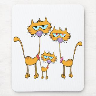 família de gato alaranjada pateta do gatinho mouse pads