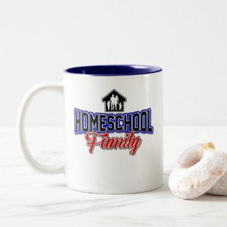 Família de Homeschool - caneca do copo de café da