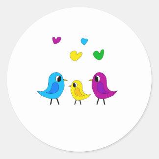 Família de pássaros adesivo