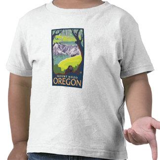 Família do castor - capa da montagem, Oregon T-shirts