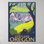 Família do castor - Portland, Oregon Posters