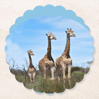 Família do girafa porta-copo de papel