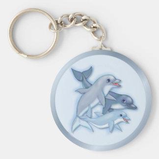 Família do golfinho chaveiros