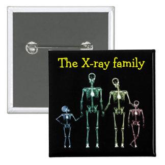 Família do raio X de Spilla Bóton Quadrado 5.08cm