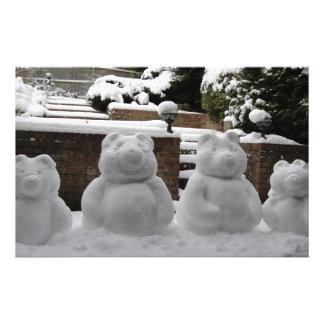 Família do urso da neve papelaria