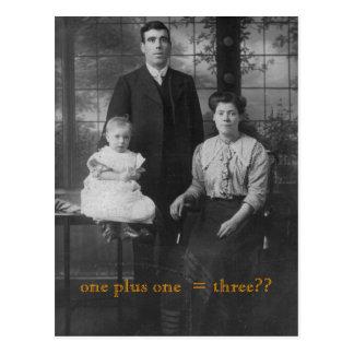 Família do vintage cartão postal