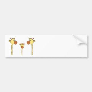 Família dos girafas. Desenhos animados Adesivo Para Carro