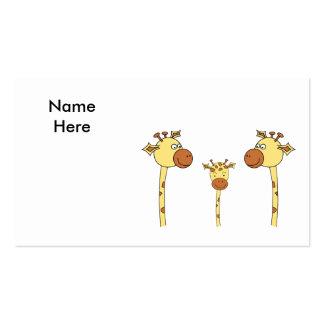 Família dos girafas Desenhos animados Cartão De Visita