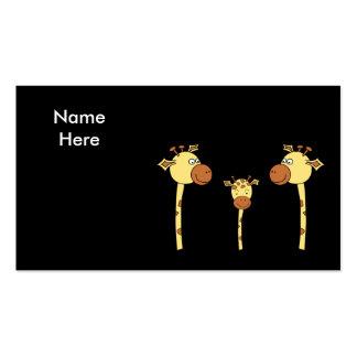 Família dos girafas. Desenhos animados Cartão De Visita