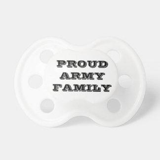 Família orgulhosa do exército do Pacifier Chupeta