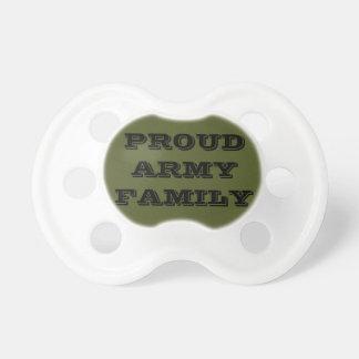 Família orgulhosa do exército do Pacifier Chupeta Para Bebê