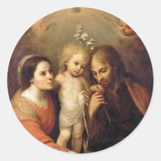 Família santamente com os querubins por Gutiérrez Adesivo
