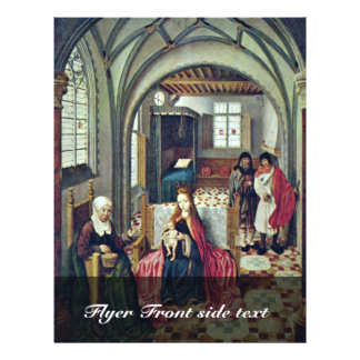 Família santamente na sala com Anna e Joachim por  Modelo De Panfletos