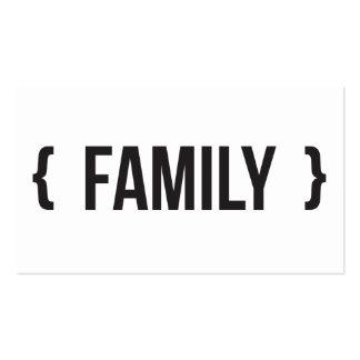 Família - suportada - preto e branco modelos cartoes de visitas