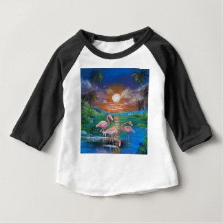 Famingos tropical camiseta para bebê