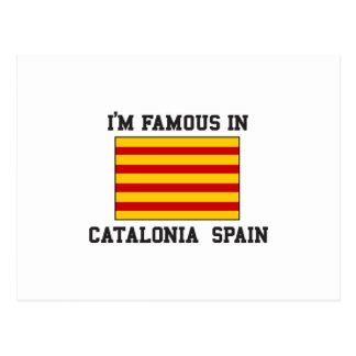 Famoso na espanha de Catalonia Cartão Postal