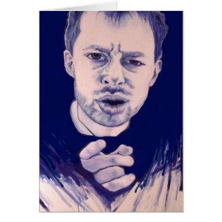 Fan de música do cartão de Thom Yorke Radiohead