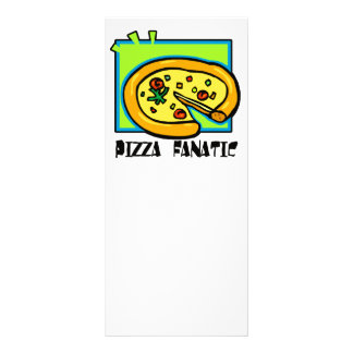 Fanático da pizza 10.16 x 22.86cm panfleto