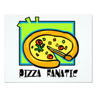 Fanático da pizza convite 10.79 x 13.97cm