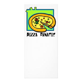 Fanático da pizza modelo de panfleto informativo