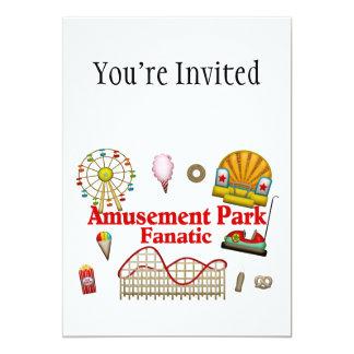Fanático do parque de diversões convite 12.7 x 17.78cm